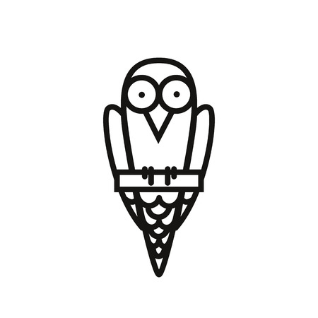 Bird Icon Icon Isolated On White Background. Bird in a cartoon flat style, mobile apps and other proet sites. Vector Illustration