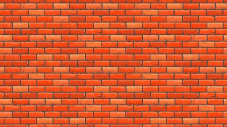 シームレスな茶色の煉瓦パターン分離壁の背景。ベクトルの図。  イラスト・ベクター素材