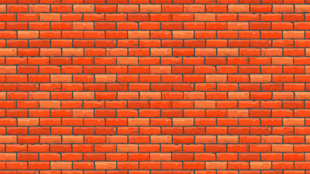 Seamless brown brick pattern isolated wall background. Vector illustration. Stock Vector - 87931326