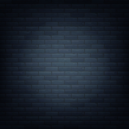 Brick wall with light source background isolated pattern. Vector illustration.