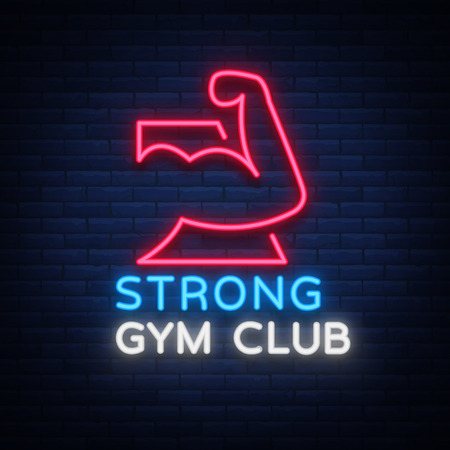 Gym sign icon.