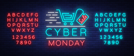 Cyber Monday banner concept.