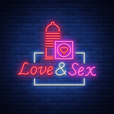 Shop is a neon sign logo. Vector illustration. Bright neon sign, luminous banner, nightly bright advertisement of shop