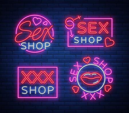 Collection of shop signage design. Reklamní fotografie - 91217362