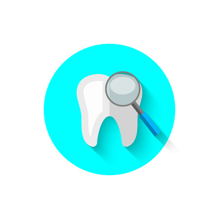 A review of the teeth, illustrated in a flat style design of vector illustration. Modern icon of dentistry. Website and design for mobile applications and other your projects