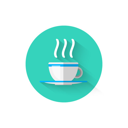 Hot Coffee Cup Icon Isolated. Symbol beverage, vector illustration for your projects.