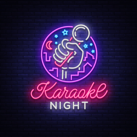Karaoke night vector.