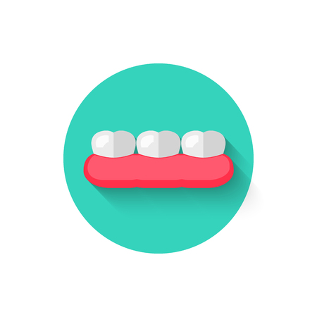 Tooth icon isolated in flat design style vector illustration. Illustration