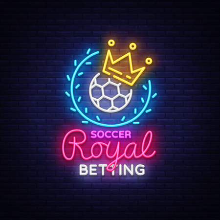 Betting Soccer neon sign.