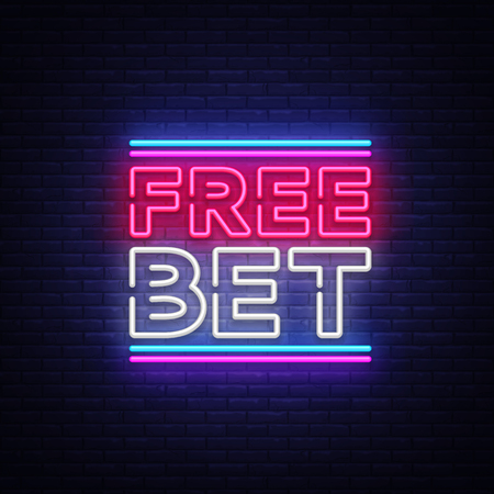 Free Bet Neon sign Stock Vector - 100273345