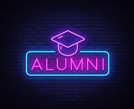 Alumni Neon Sign Vector.