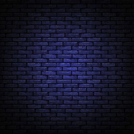 Black brick wall texture. Realistic decorative background. Vector illustration