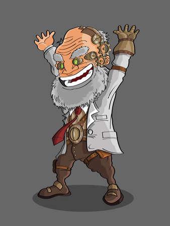 machinist: professor cartoon