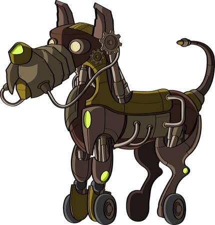 Cyber dog on gray background  photo