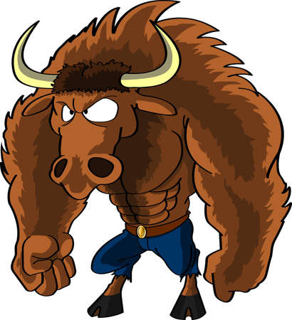 mythical Minotaur creature half man, half bull which lived in the Labyrinth in Crete and to which human sacrifices were made photo