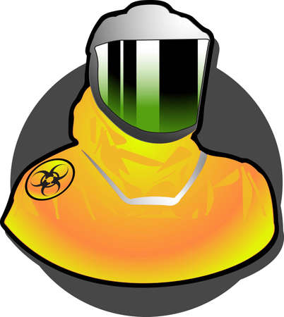 contagious:  helmet and visor of a biohazards suit used by medical teams in times of contagious disease requiring quarantine