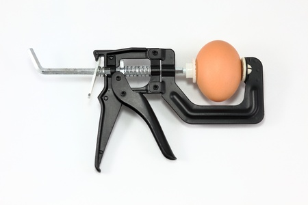 Clamping on an egg Stock Photo - 8383141