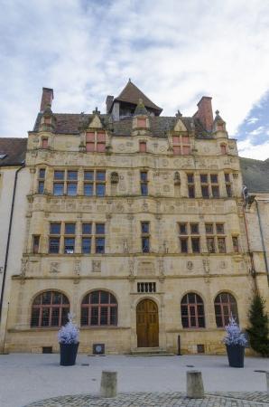 burgundy colour: the old city hall ofParay-le-Monial, france, Burgundy, colour, vertical