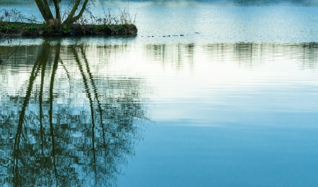 burgundy colour: The Pond in Bourbon-Lancy, France, Burgundy, colour, horizontal Stock Photo