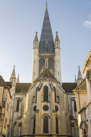 an Church in Dijon , France, Burgundy, color, vertical photo