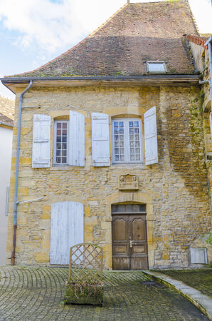 hollidays: old house in Charolles, burgundy, france Stock Photo