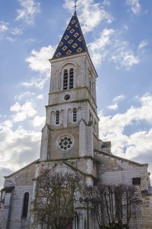 d mark: The church in Beaune in Burgundy, France