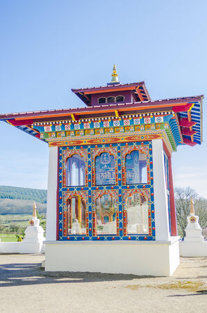 workship: an buddhist temple, color, vertical Stock Photo