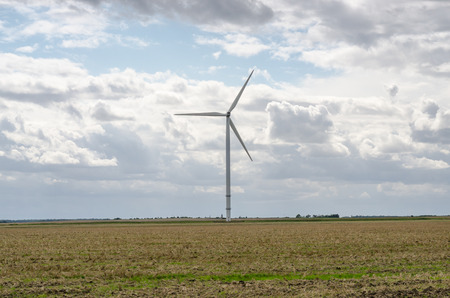 an wind turbine in wild, color,