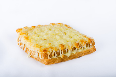 Croque Monsieur, French food, toasted ham and cheese sandwich.