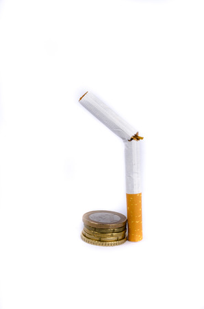 money and cigarette, stop to smocking