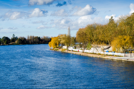the dock and river in Vichy, France, Auvergne
