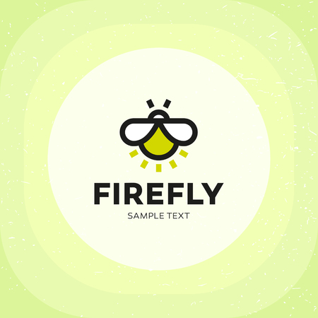 Firefly Logo design template. Vector insect logotype, sign and symbol. Lighting bug icon
