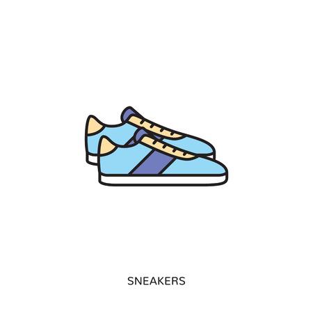 Sneaker icon design template. Vetores