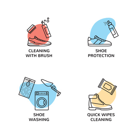 Sneaker Cleaning template set.