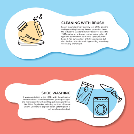 page layout for sneaker cleaning web site. Illustration