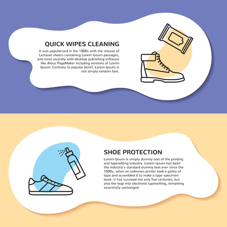 Page layout for sneaker cleaning web site.