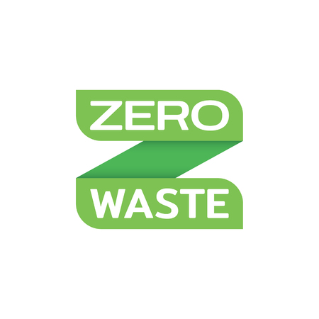 Zero Waste design template. Vector alphabet letter Z label. Green eco icon label background. No Plastic and Go Green concept. Illustration of  Refuse Reduce Reuse Recycle Rot Illustration