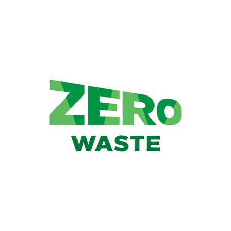 Vector Zero Waste design template. Lettering icon label background. Color illustration of  Refuse Reduce Reuse Recycle Rot. No Plastic and Go Green concept