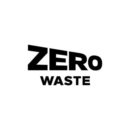 Zero Waste design template. Vector lettering icon label background. Trendy illustration of  Refuse Reduce Reuse Recycle Rot. No Plastic and Go Green concept