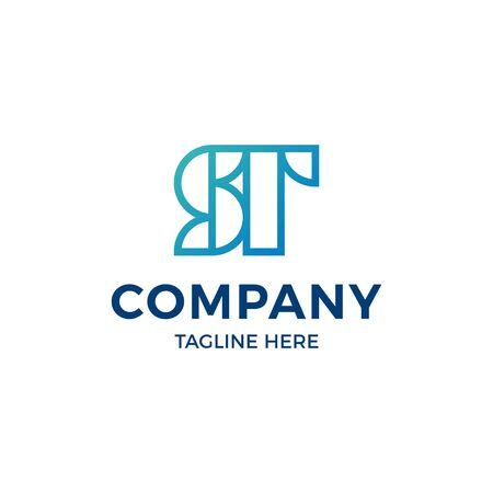 Vector ST initial design. S T letter . Geometric monogram label illustration. Modern abstract type template for company, business Vektoros illusztráció