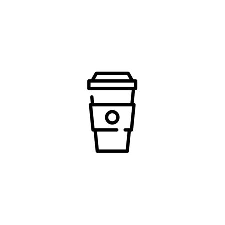 Ð¡offee to go icon template. Vector line paper cup logo. Simple drink concept for take away, cafe, bar, restaurant, stall. Street food symbol illustration