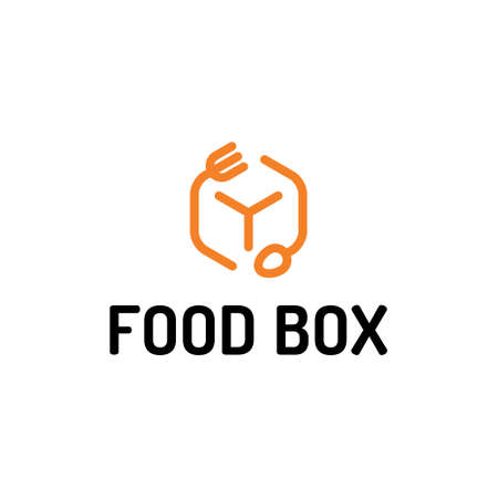 Vector food box logo design. 向量圖像