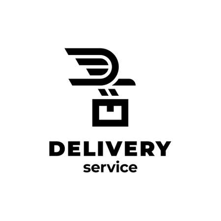 Vector delivery logo design. 向量圖像