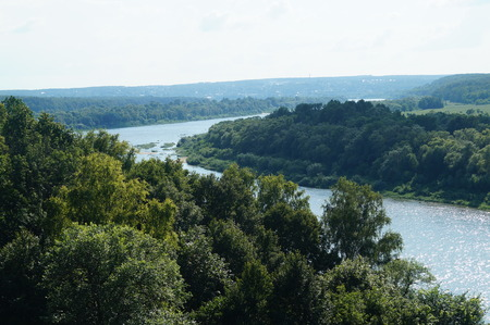 marge: Landscape of the river and the beauty of Russian nature, river Oka Polenovo