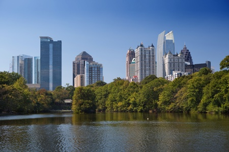 city park skyline: Downtown Atlanta, view from Piedmont Park