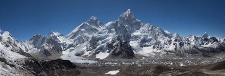 Everest Himalayan Range. View from Kala Pattar mountain.