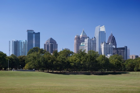 Downtown Atlanta, view from Piedmont Park photo