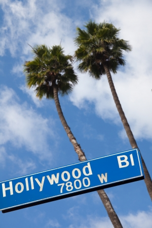 hollywood hills: Hollywood blvd, Road Sign.