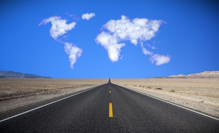 cloud formation: Cloud formation in the shape of a map of the world