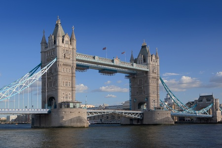 Tower Bridge over the River Thames in London.